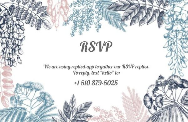 How To RSVP by Text Message – From a guest perspective