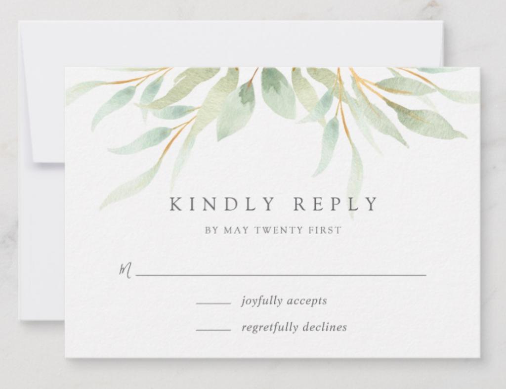 Wedding Rsvp Examples Sample Rsvps