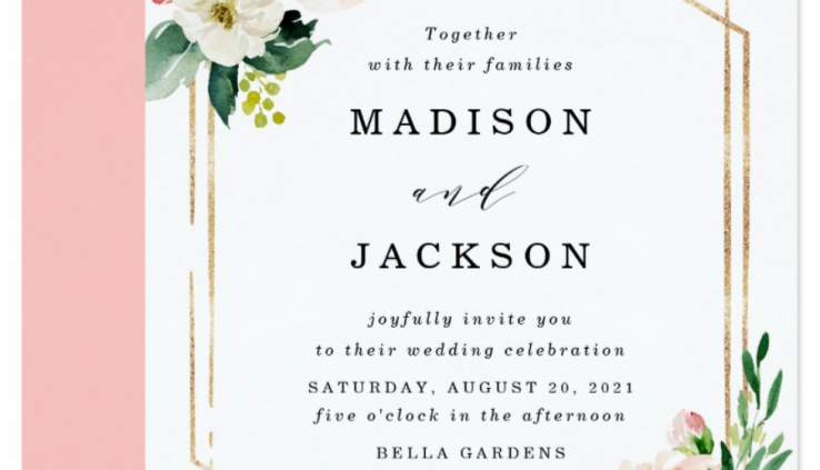 Zazzle wedding invitation