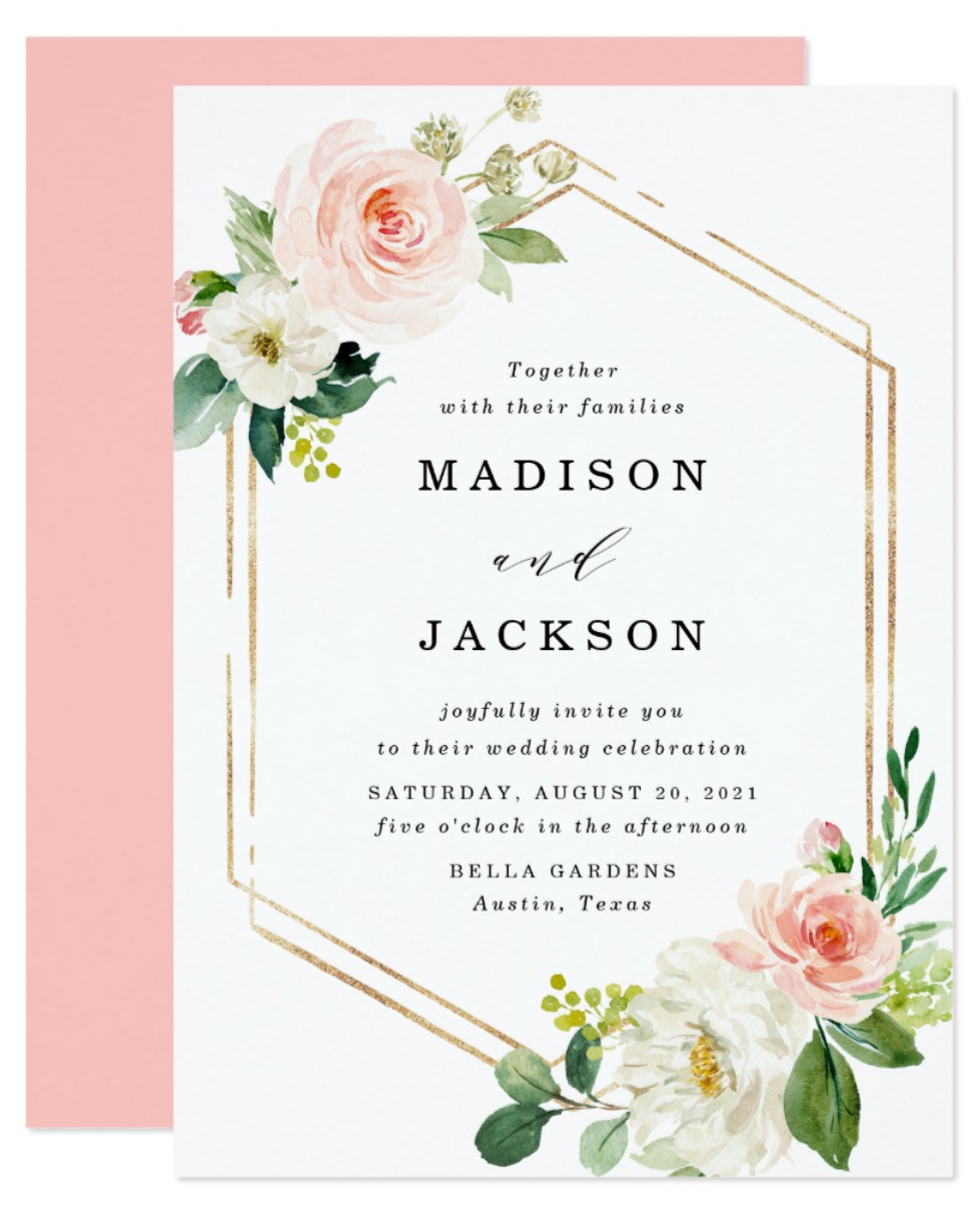 Zazzle Wedding Invitation with text message RSVP