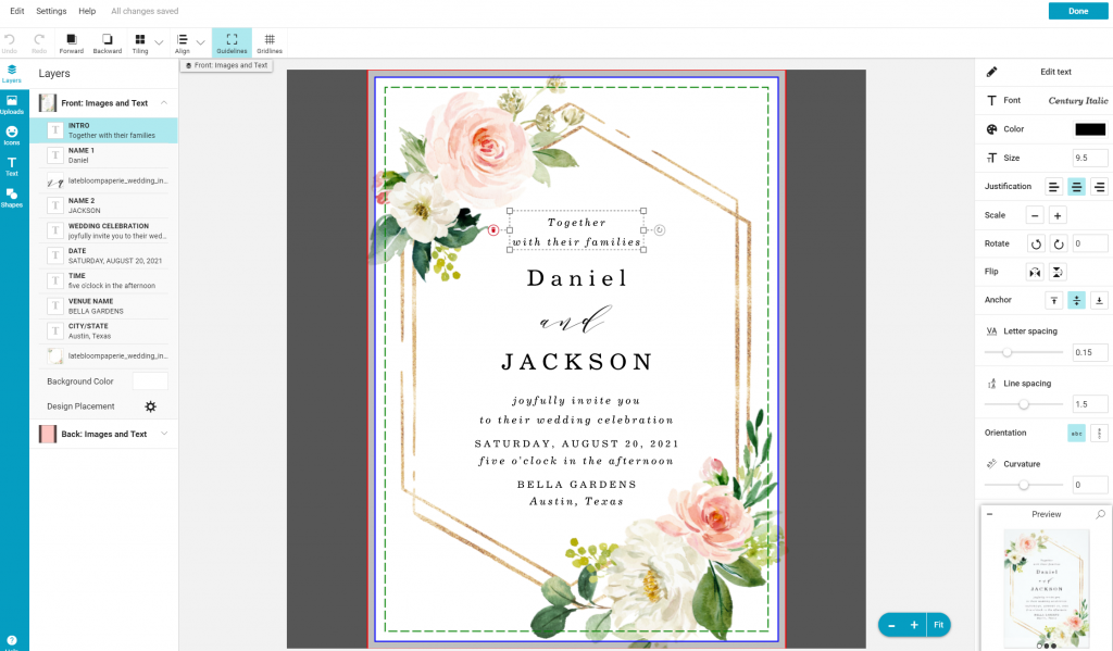 zazzle wedding invitation editor